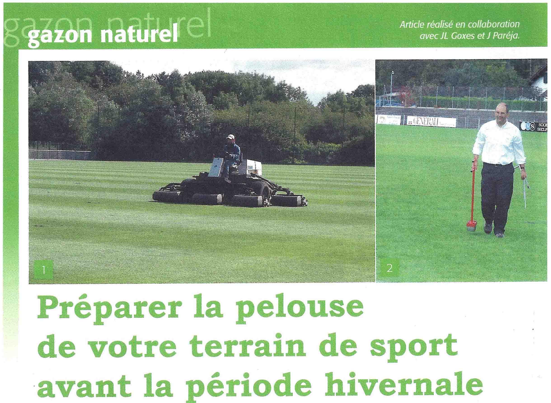 Pr parer la pelouse de votre terrain de sport avant l hiver pelouses sports - Preparer son terrain avant pelouse ...